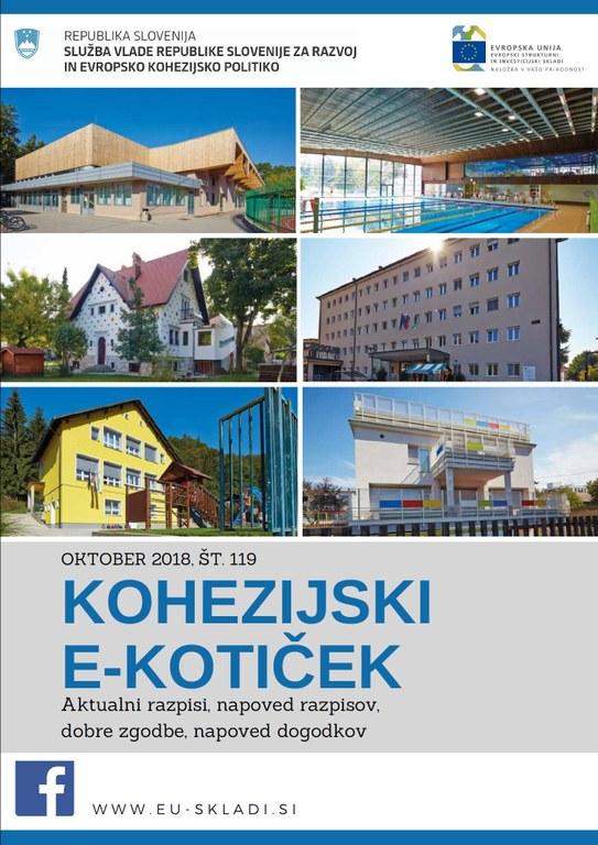 Izšla je oktobrska številka Kohezijskega e-kotička