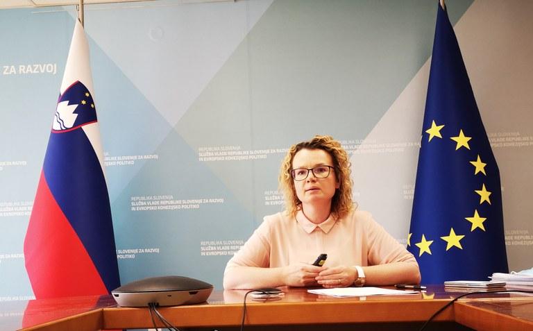 Državna sekretarka mag. Monika Kirbiš Rojs: »Evropska sredstva bodo prednostno usmerjena v zeleno in digitalno preobrazbo naše družbe in gospodarstva«