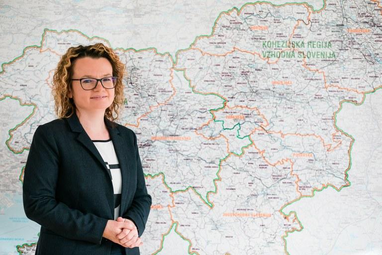Državna sekretarka mag. Monika Kirbiš Rojs: »Z evropskimi sredstvi bomo poskrbeli za zmanjšanje razvojnega razkoraka med slovenskimi regijami«.