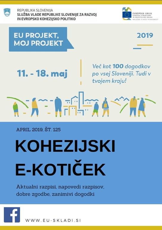 Izšla je aprilska številka Kohezijskega e-kotička