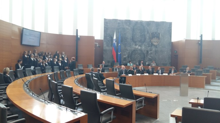 Odprtje fotografske razstave v Državnem zboru